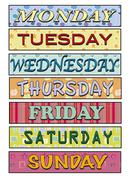 Days of the week Stock Illustration