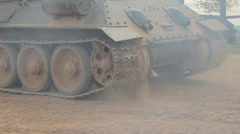 Turn tank Stock Footage