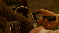 Pouring wine into glass Stock Footage