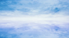 Clouds time lapse, seamless loop - stock footage