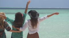 Perfect Selfie At Amazing Tropical Beach Stock Footage