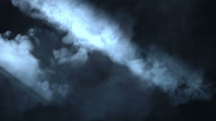 Smoky fume mist effect foreground organic abstract spooky light streek music Stock Footage