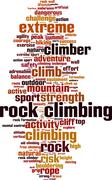 Stock Illustration of Rock climbing word cloud