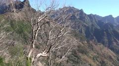 4k Mountain landscape panning Encumeada region Madeira Stock Footage