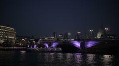 Blackfriars Bridge at Night | HD 1080 Stock Footage