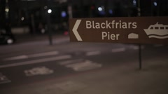 Blackfriars Pier Sign London | HD 1080 - stock footage