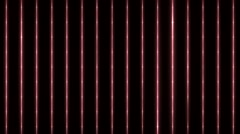 Bright flood lights disco background with vertical strips and lines. Stock Footage