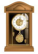 Pendulum clock Stock Illustration