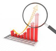 Bar graph representing future real estate trends - stock illustration