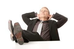 Businessman - relax - stock photo