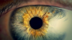 Extreme close up human eye iris in 4K UHD video. Stock Footage