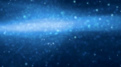 Abstract blue motion background, energy waves particles and lines. - stock footage