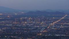 Downtown Phoenix at Night Timelapse Stock Footage