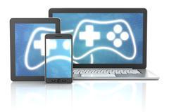 Stock Illustration of Cross platform gaming