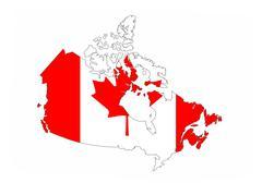 Canada flag map Stock Illustration