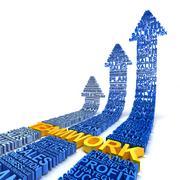 Teamwork for business improvement Stock Illustration