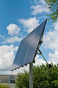 Renewable Energy - Photovoltaic Solar Panel Array - stock photo