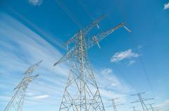 Electrical Transmission Towers (Electricity Pylons) - stock photo