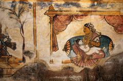 Fresco paintings - stock photo