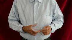 Magician Creates Handkerchief Stock Footage