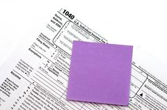 us tax form - stock photo