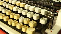 Retro typewriter rotates - stock footage