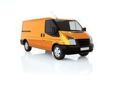 Orange Van Stock Illustration