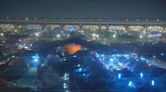 Allahabad city at night at Allahabad in Uttar Pradesh, India Stock Footage