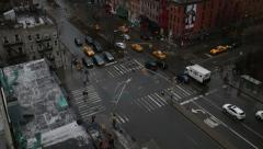 Over Head View of Traffic in Manhattan New York Stock Video Stock Footage