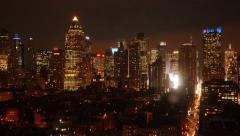 Day to night time lapse of skyline cityscape new york. urban background Stock Footage