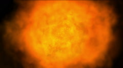 Hot Fire ball burn background,Abstract powerful particle smoke power energy. Stock Footage