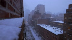 Winter city background. snowfall snow. cold weather seasons scenery Stock Footage