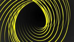 Yellow vector lines abstract motion background Stock Footage