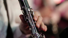 Stock Video Footage of Playing clarinet