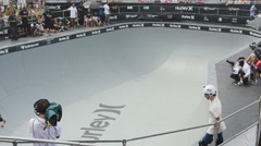 Hurley skateboard championship Stock Footage