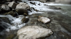 Flowing Water in slow motion Stock Footage