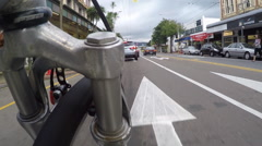 Biking POV road and footpath shortcuts Stock Footage