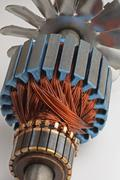 Copper Coils found Inside Electric Motor Stock Photos