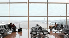 At the airport Stock Footage