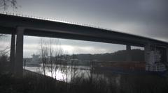 Kiel-Canal Hochbrücke Timelapse  - stock footage