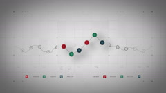 Line Graph Loop Color Lite - stock footage