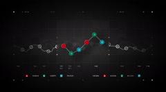 Line Graph Loop Color - stock footage