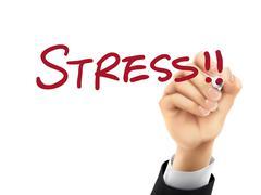 Stress written by 3d hand Piirros