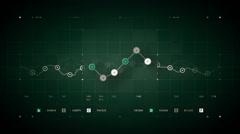 Line Graph Loop Green - stock footage