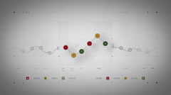 Line Graph Loop Warm Lite Stock Footage