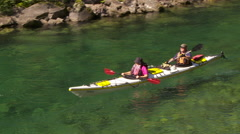 Kayaking on the river 3 Stock Footage