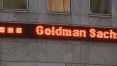 Stock Video Footage of Market Share Price Ticker Goldman Sachs  stock