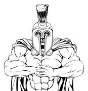 Tough spartan - stock illustration