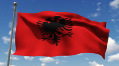 Flag of Albania - stock footage