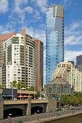 Eureka Tower, Melbourne, Australia - stock photo